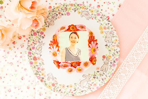 お花いっぱいフォトケーキ 生クリーム 4号 12cmの画像1枚目