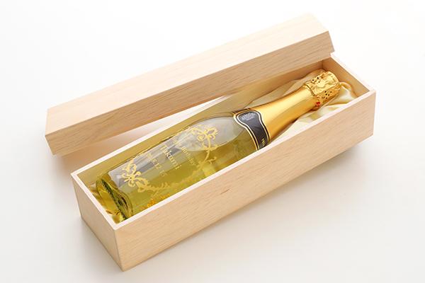 【名入れ酒】金箔入りスパークリングワインの画像1枚目