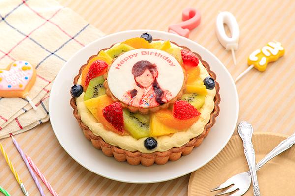 写真ケーキ フルーツタルト 4号 12cm tart-4-p