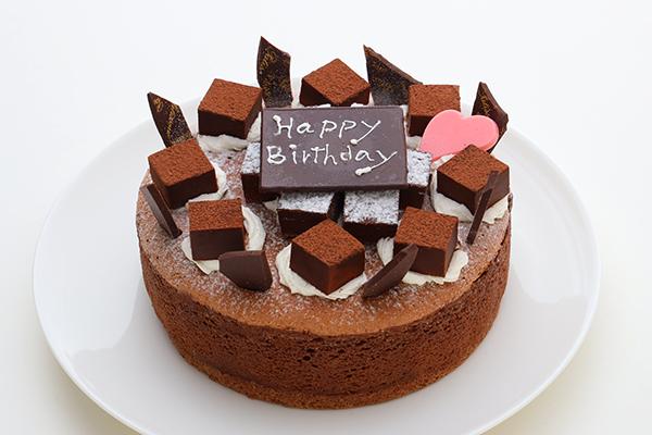 生チョコ飾り魅惑のガトーショコラ 5号 15cm 満足するチョコケーキなら メルシーノグチ Cake Jp