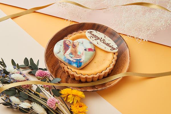 写真クッキー付き チーズタルト 4号 12cmの画像1枚目