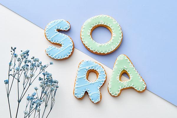 アルファベット&数字 アイシングクッキー! 6文字(sucre cresia) | Cake.jp