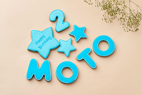 セミオーダーアイシングクッキーセット(アルファベット・数字4枚)の画像1枚目