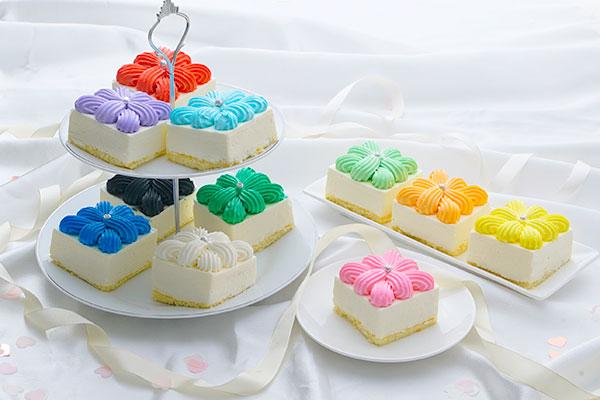 「推し会」ケーキセット 4カット(全11色からお好きな4色をお選びください)の画像1枚目