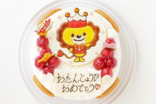 生クリームイラストケーキ 5号 15cm