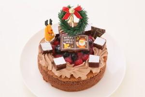 クリスマスケーキ2017 「フルーツ飾り」 魅惑のガトーショコラ 5号 15cm