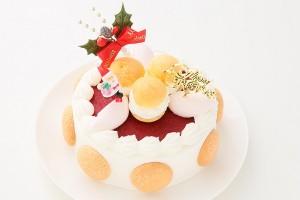 クリスマスケーキ2017 ファミリークリスマス 生クリーム 5号 15cm (1259)