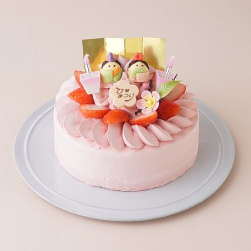 ひなまつり限定 苺クリームのデコレーションケーキ 5号 15cm