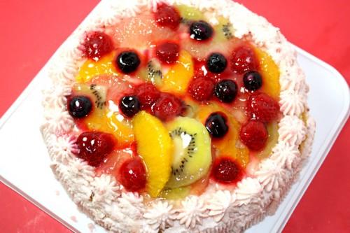 いちご生バースデーケーキ(丸型)4号 12cm