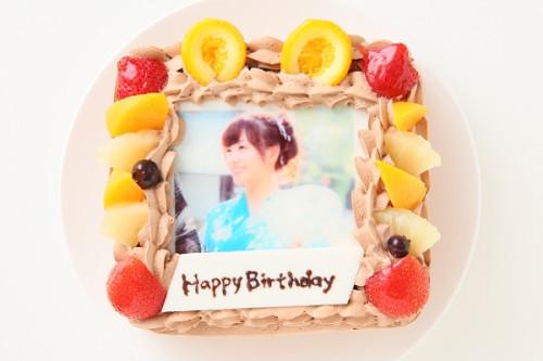 写真ケーキ生チョコクリーム Sサイズ 15cm×15cm