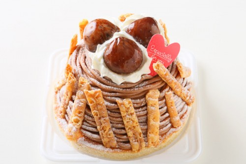 秋にぴったりのケーキ☆モンブラン 5号 15cm