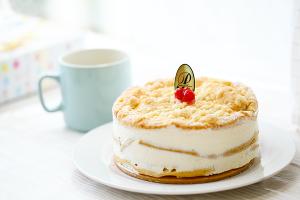 最高級洋菓子 フロッケンザーネトルテ 自家製赤すぐりジャムのショートケーキ 15cm