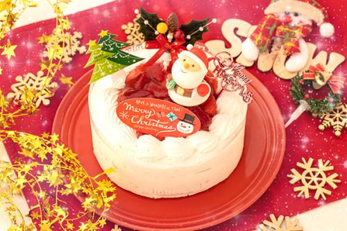 クリスマスケーキ2018 乳製品除去 乳製品アレルギー対応用クリスマスケーキ 4号 12cm