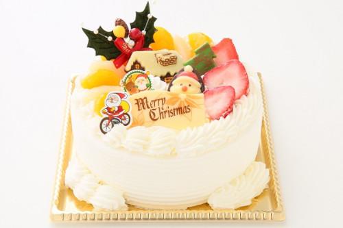 クリスマスケーキ2020 クリスマス☆苺生クリームデコレーションケーキ 4号 12cm