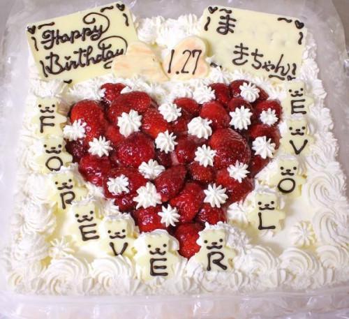 生クリームデコレーションケーキ8号角スクエア 24cm