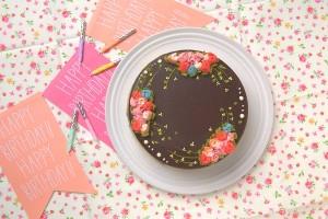 チョコバタークリームデコ 5号 15cm