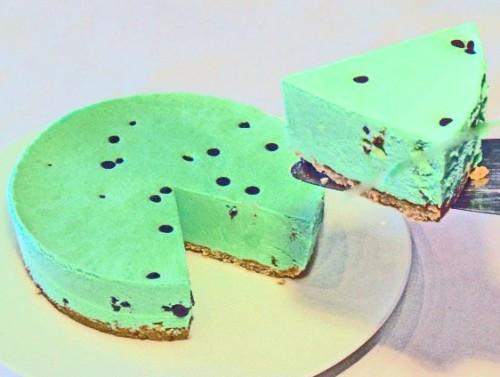 チョコミントのレアチーズケーキ 4号 12cm