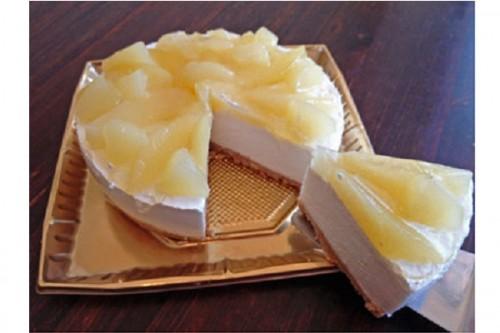 山形県産のラフランス使用 洋ナシのキャラメルムースケーキ 5号 15cm