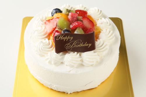 バニラカスタード風味のフルーツアイスデコレーションケーキ 5号 15cm