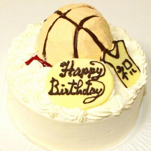 バスケットボールケーキ5号 15cm