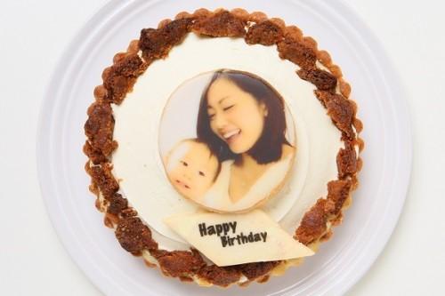 写真クッキー付き 三層のチーズタルト 5号 15cm