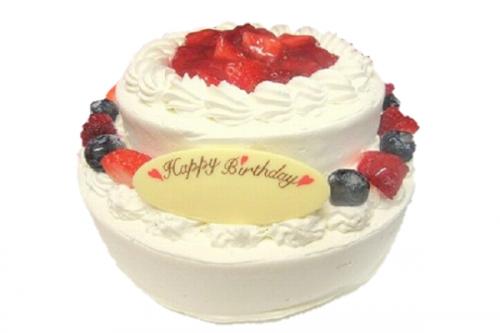 2段苺のデコレーションケーキ 5号×7号