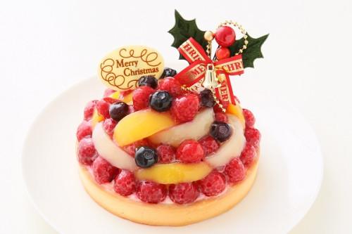 クリスマスケーキ2017 特製フルーツケーキ 【キャンドル・プレート・ヒイラギ付】 14cm