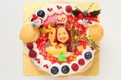 クリスマスケーキ2018 写真ケーキ(生クリーム) 5号 15cm (1254)