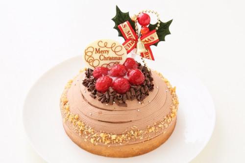 クリスマスケーキ2017  特製チョコレートクリスマスケーキ 【キャンドル・プレート・ヒイラギ付】 14cm