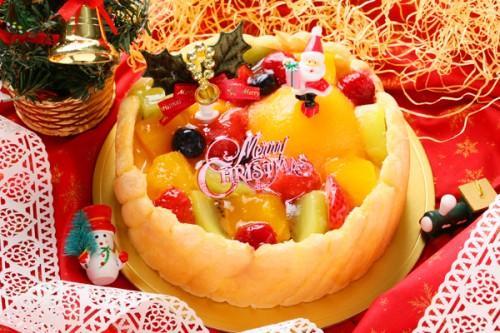 クリスマスケーキ2017 フルーツトルテデコレーション 5号 15cm