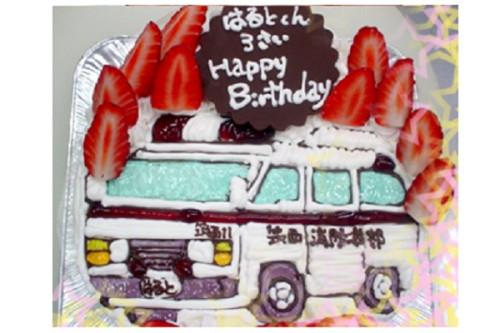 大人気!手書きイチゴのキャラクター生クリームイラストケーキ 5号 15cm