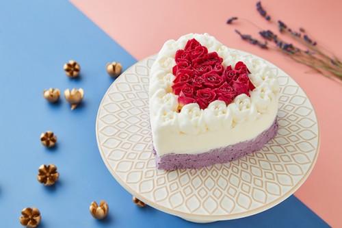 アイスケーキ ホワイトデーローズ エディブルフラワー食用花 バラ 12cm