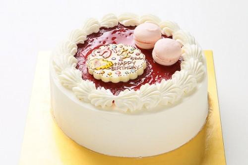 グルテンフリー 米粉の生クリームデコレーションケーキ!プチマカロン付!魚沼産コシヒカリ使用でしっとり!ふわふわ! 5号 15cm