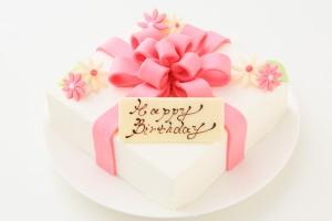 プレゼントボックスケーキ W ホワイト 15×15cm