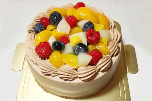 フルーツチョコクリームケーキ 5号 15cm