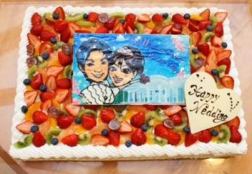 徳島県徳島市 限定配送 パーティー用大型ケーキ スクウェア 18×25cm