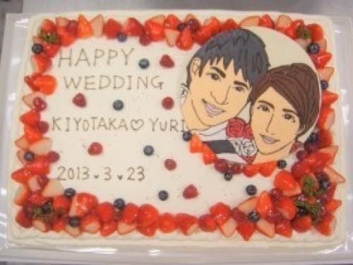 広島県広島市中区配送限定 パーティー用大型ケーキ 40×26cm