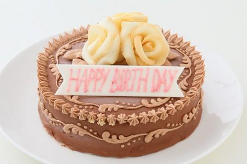 5種類の味から選べる フラワーケーキ ショコラ 4号 12cm