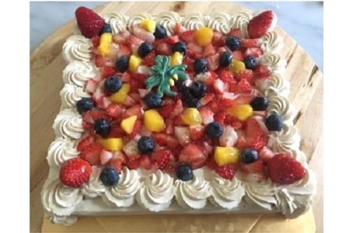 グルテンフリーのフルーツケーキ 5号 15cm×15cm