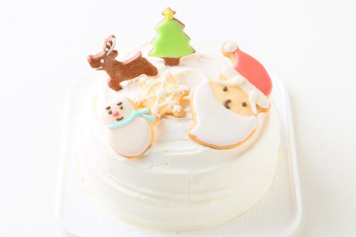 クリスマスケーキ2019 アイシングクッキーデコレーションケーキ 5号 15cm