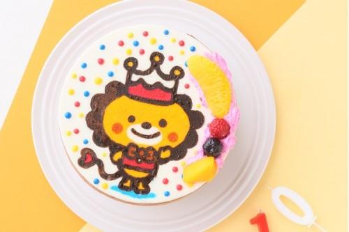 イラストケーキ 生クリーム 4号 12cm