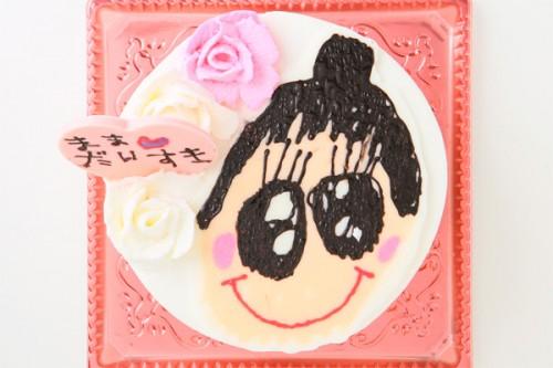 手描き似顔絵ケーキ 4号 12cm