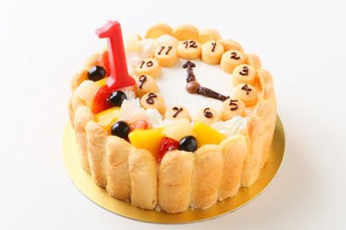 乳幼児用ヨーグルト時計ケーキ セミオーダー 4号 12cm