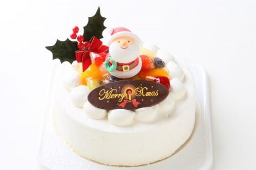 クリスマスケーキ2018 フルーツデコレーションクリスマスケーキ 4号 12cm