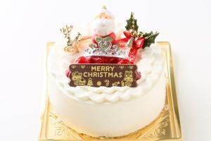 クリスマスケーキ2017 クリスマス生クリームデコレーション 5号 15cm