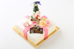 【クリスマスケーキ2016 12月22〜25日限定お届け】プレゼントボックスケーキ  W 15×15cm(4?5名様用)