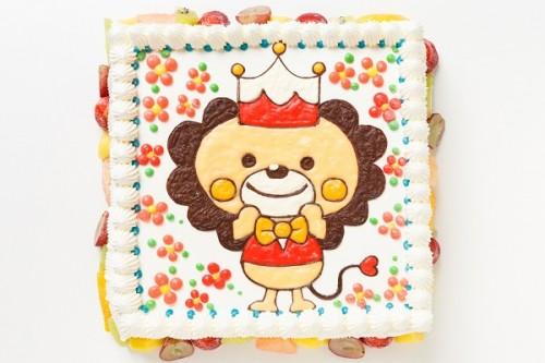 イラスト・似顔絵デコレーションケーキ(スクエア型)24×24cm
