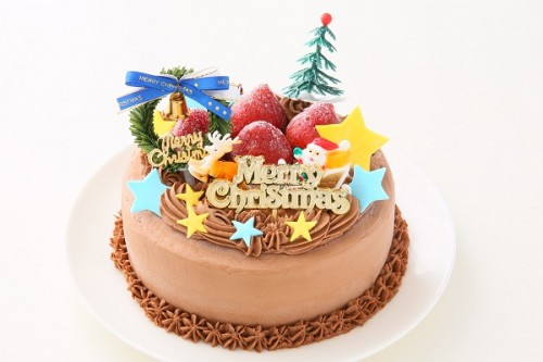 クリスマスケーキ2020 卵・乳製品・小麦粉除去 アレルギー対応可能クリスマスチョコケーキ 4号 12cm