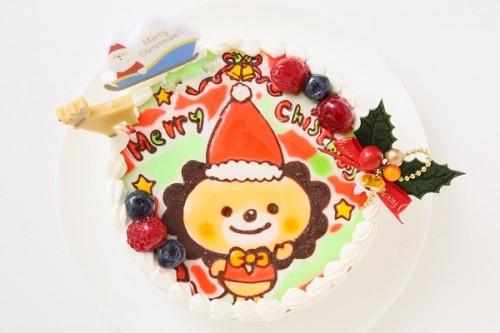 クリスマスケーキ2017 Xmasキャラクター生デコレーションケーキ(キャラ2体まで) 5号 15cm