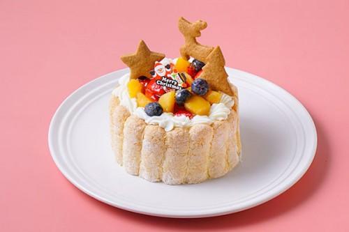 クリスマスケーキ2020 乳幼児向け ヨーグルトフルーツケーキ 3号 9cm